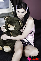 Tgirl fucking a Teddy Bear in the new year