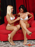 Two lusty tgirls spending hot time