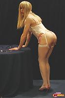 Blonde hottie shows her sweet cock