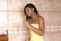 Ebony Shemale Gets Interracial Fuck & Swallows