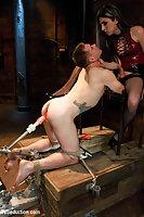 Strict mistress slamming hot guy