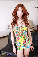 Redhaired Ladyboy In Thong Jerking Dong