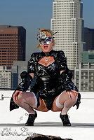 Seductive TS Olivia Love posing