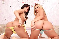 Bruna Butterfly and Juliana Souza