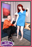 Redhead slutty tranny gets analized