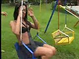 Oral Petting For Pretty Tgirl Outdoors