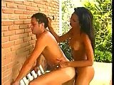 Tranny and dude fuck each other in turn