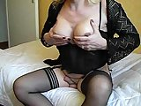 Mature TS In Lovely Cock Handjob