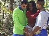 Football players fuck pretty tranny outside
