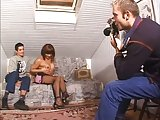 Homemade threesome filming