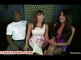 Tranny and Black Guy Dominate a Juisy Slut