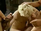 Awesome orgy with blonde tranny bitch