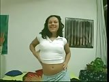 Swarthy latina is burning with a sexual desire