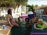 Cutie trannies in the pool having some action