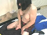 Lewd Tranny Riding On A Toy