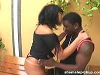 Luscious Booty Shemale  Rammed By The Pool