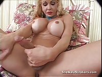 Busty Tonya Stroking Hard