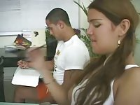 Cute guy fucks teen pretty Fabiana