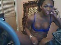 Webcam chocolate Tgirl stroking