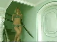 Blonde slut gets drilled