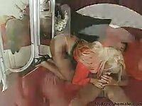 Naughty blonde Tchick got laid