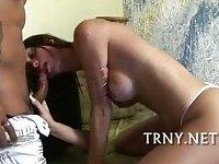 Hot tranny savors sex delights