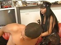 Tart and shemale in domination threesome movie
