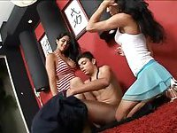 Latina Tgirls drill a naked chap