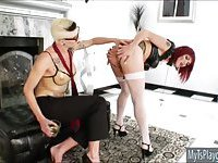 Red haired shemale Eva Lin anal ripped