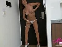 Alessandra Blonde white panties