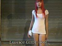 Masked Guy Fucking Redhead Ladyboy