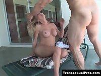TS Olivia Love gets her ass slammed