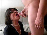 Deepthroat sucking and swallowing