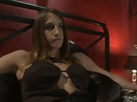 Tranny is glad to bang a pussy