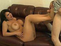 Big Titty Latina Transsexual Cock Sucking