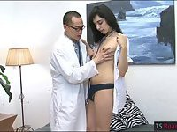 Tight shemale anal fucked by the doctor