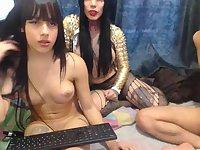 Threesome webcam show