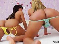 T-girls Bruna Butterfly and Juliana Souza fucking