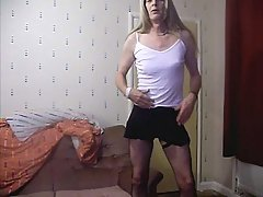 Old Transgender In Stockings Flaunting Rod at sexodirectory.com