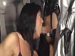 Two amazing crossdressers sucking and fucking motions at sexodirectory.com