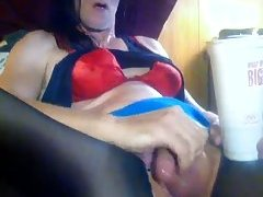 Mature Crossdresser Strokes His Dick at sexodirectory.com