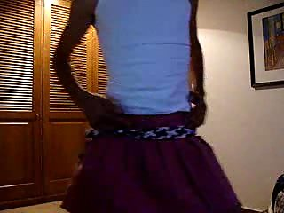 Slim Crossdresser Solo Dancing