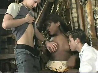 Black Transsexual For Two Nasty Poles
