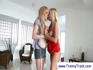 Jesse and blonde chick eats one cock