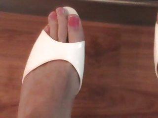 Foot fetish TS webcam solo