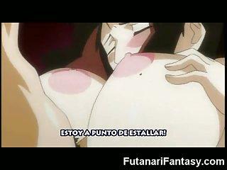 Anime Futanari Jizzes on Girl