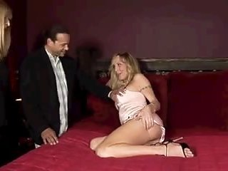 Busty blond TS gets her ass penetration