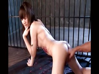 Fetish motions with a naked ladyboy