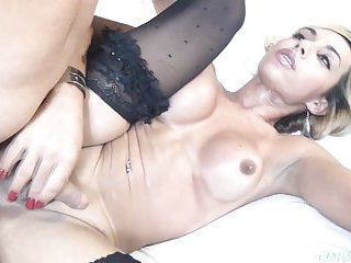 Blonde tranny ass deep fingered & dicked