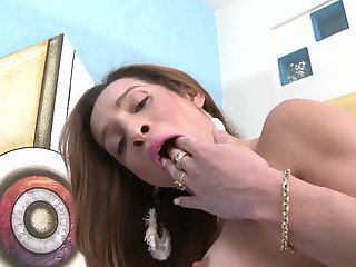 Hot tranny with a super huge cock